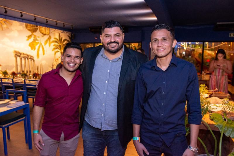 Junior Oliveira, Alisson Lira e Fracisco Jasckson