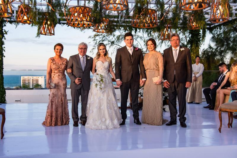 Jocelma Andrade e Raimundo Andrade, Erica Dantas, Pedro Vasconcelos, Fatima Vasconcelos e Paulo Sergio Vasconcelos