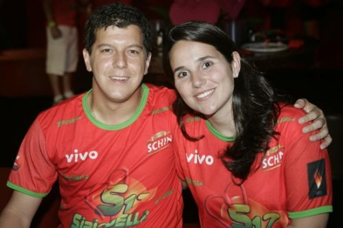 Marcelo Lopes e Joana Alvim