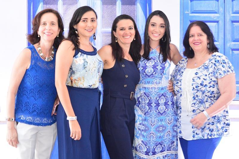 Rita Maia, Keilane Lima, Jorgiane Silva, Clarice Ximenes e Lillian Sisnando