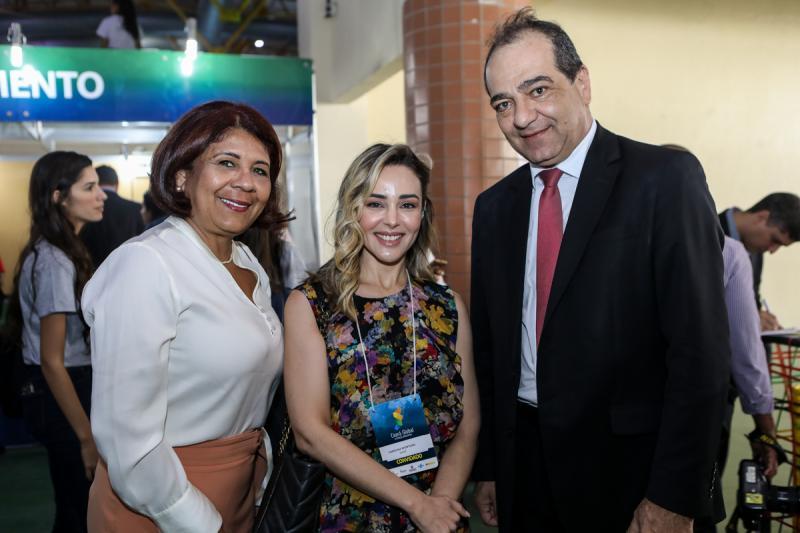 Gessimira Resende, Carolina Monteiro e Walide Pires