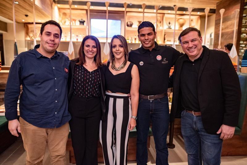 Alisson Bruno, Cristina Castro, Manoela Correa Cristiano Sergio e Wendel Antunes