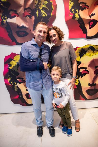 Philippe, Lucas e Ellen Godefroit