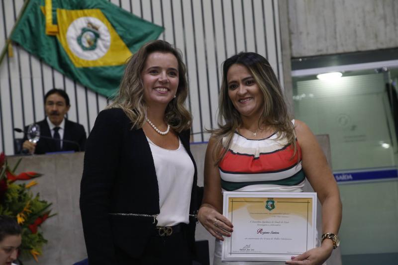 Renata Vasconcelos e Rejane Santos