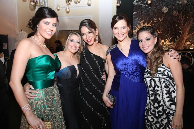 Daniela Leal, Camila Ferrado, Ludmila Linhares, Raquel Barata e Fernanda Vanzan