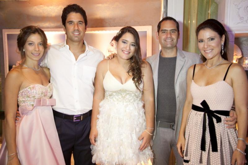 Paula Parente, Fabio, Amanda, Tarso e Ana Cristina Melo