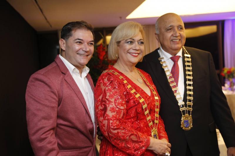 Luciano, Priscila Cavalcante e Epitacio Vasconcelos