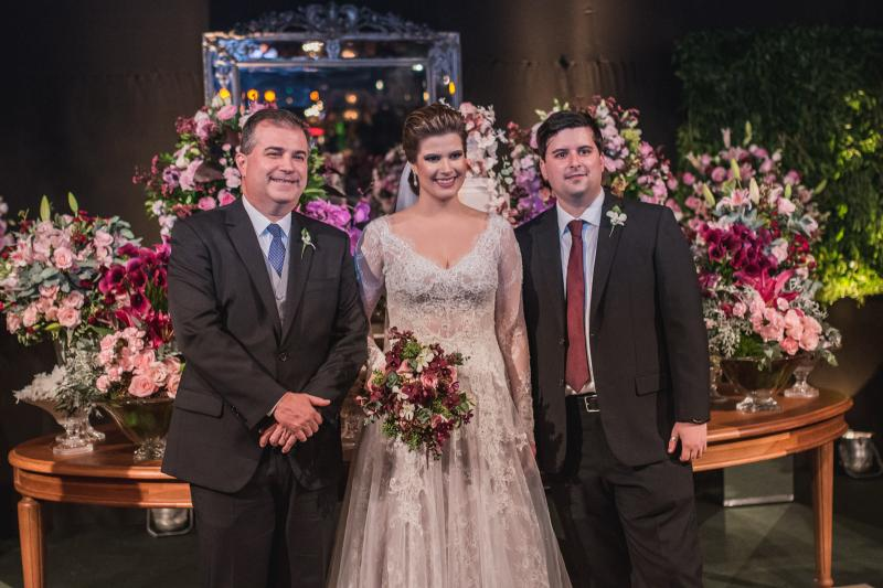 Ricardo, Ana Maria e Arthur Bezerra
