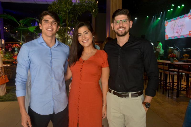 Carlucio Gurgel, Lana Martins e Rodrigo Felix
