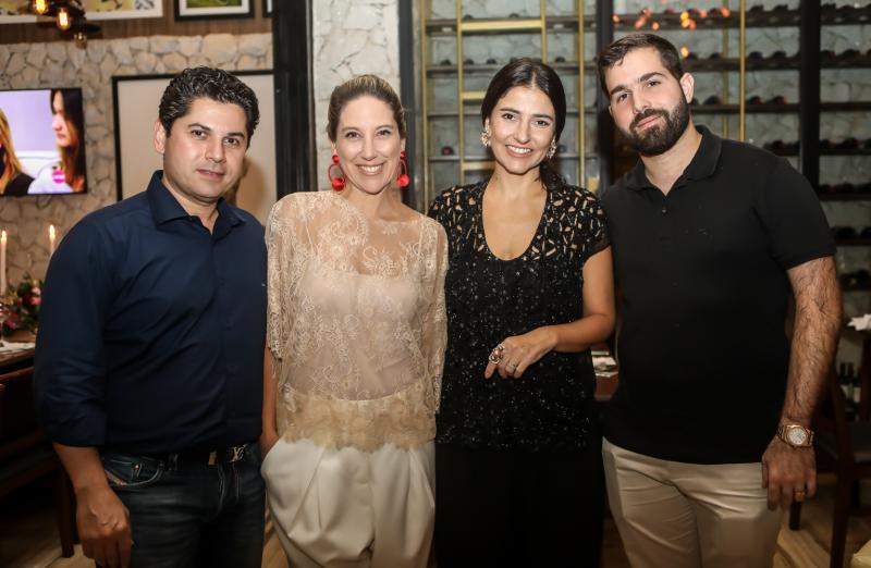 Pompeu Vasconcelos, Carol Quintero, Alice Ferraz e Felipe Rocha