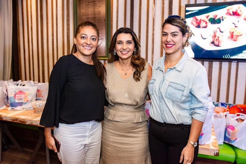 Michele Ribeio, Marcia Travessoni e Juliana de Fatima