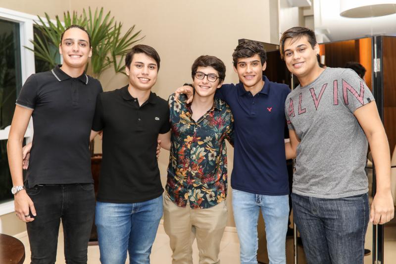 Joao Padilha, Sergio Neto, Pedro Simao, Tales Rios e Artur Kaly
