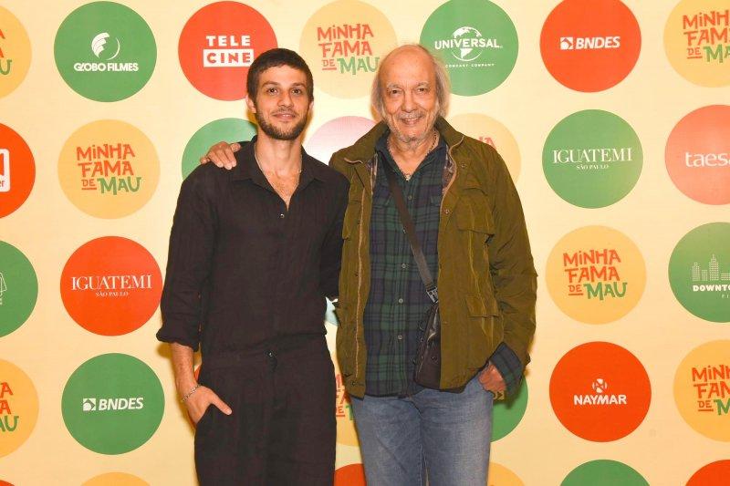Erasmo Carlos recebe famosos em avant-première de filme no Iguatemi São Paulo