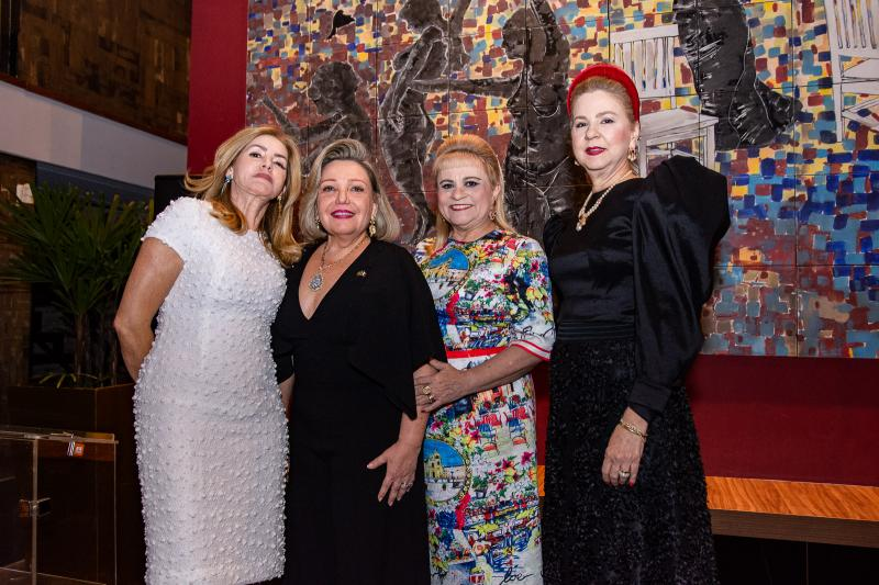 Helenita Irita, Fernanda Carapeba Jensen, Excelsa Costa Lima e Alexandrina Aguiar