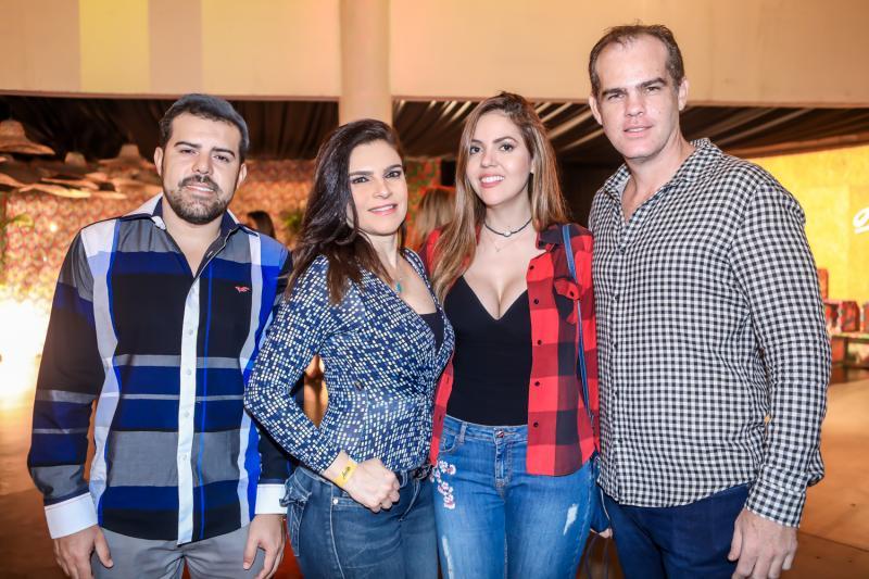 Eduardo Oliveira, Fabiana Lustosa, Flavia Torquato e Celio Gurgel