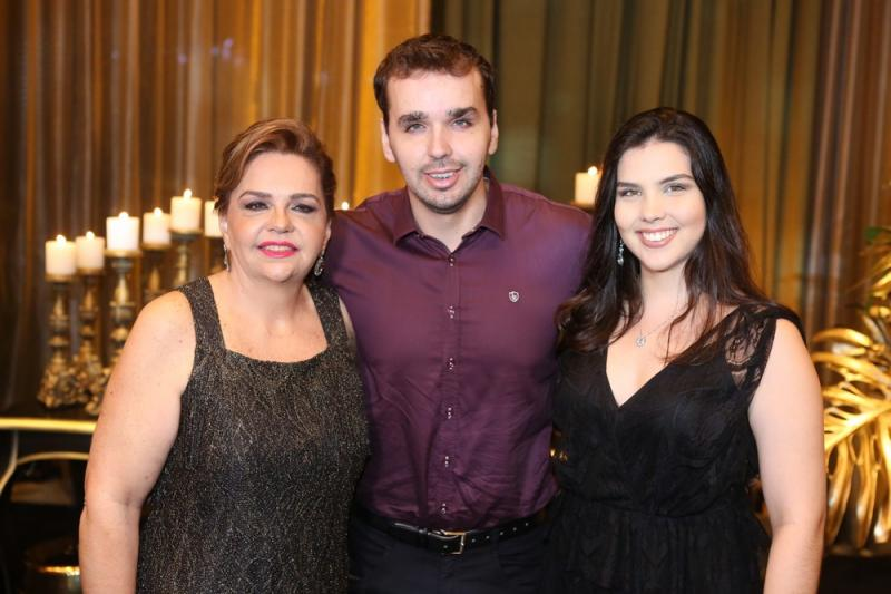 Claudia, Leonardo e Juliana Rolim