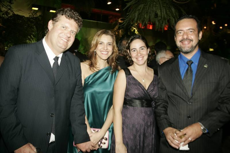Evandro e Eliziane Colares, Luciana e Dematrius Barroso