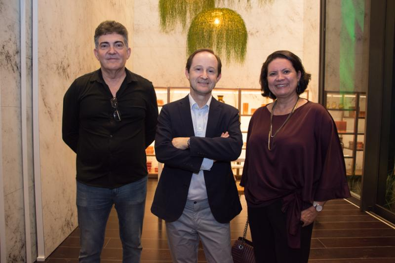 Jaime Leitao, Cesar Cini e Eliana Braga