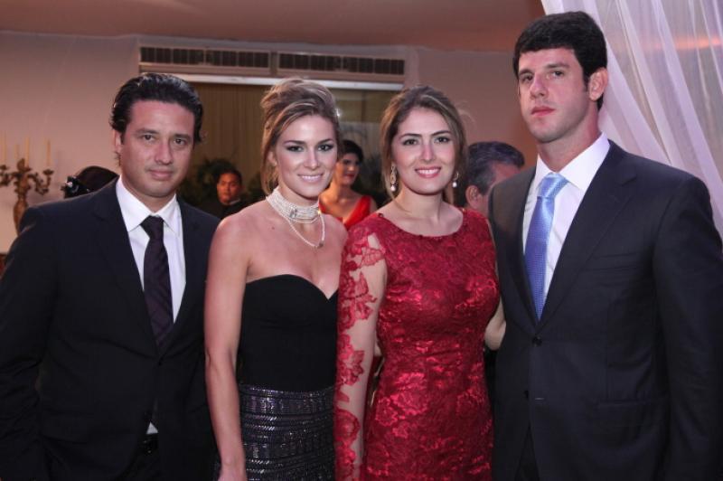 Marcelo e Bruna Quindere, Melina e Eduardo Carneiro