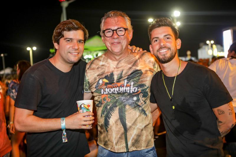 Neto Diogenes, Claudio Nelson e Pedro Campos