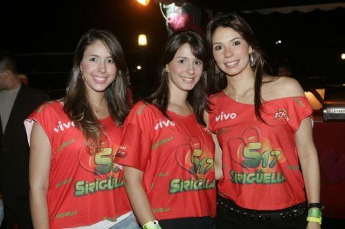 Carol, Sarah e Renata Pontes
