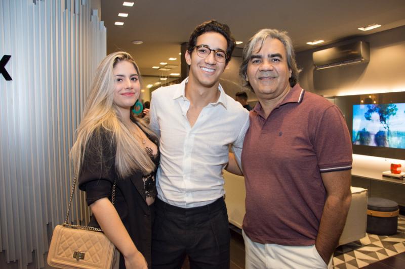 Ivna Nogueira, Gabriel Sucupira e Gerardo Mesquita