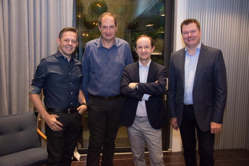 Joel Pivoto, Denis Lichtblau, Cesar Cini e Carlos Gelatti