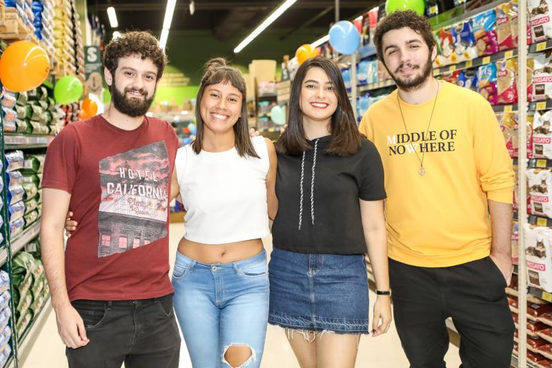 Tomas Morais, Gabriela Ferreira, Rafaela Alves e Halleychon Augusto