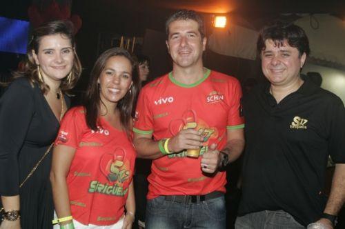 Ira Frota, Jaqueline e Carlos Cavalette e Alexandre Frota