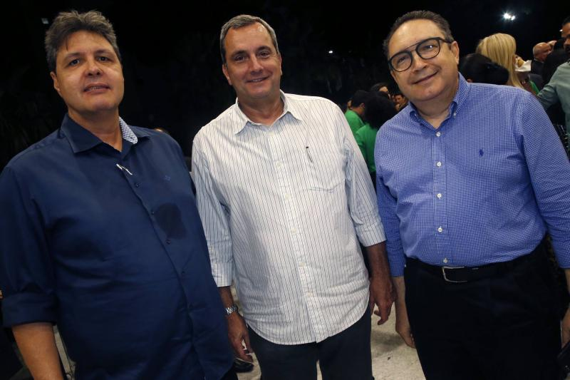 Marcos Oliveira, Kalil Otoch e Luiz Eduardo Moraes