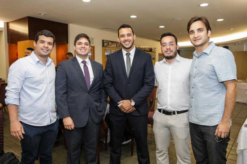 Edson Cavalcante, Guilherme Porto, Valdemir Alves, Caio Onorato e Davi Macedo