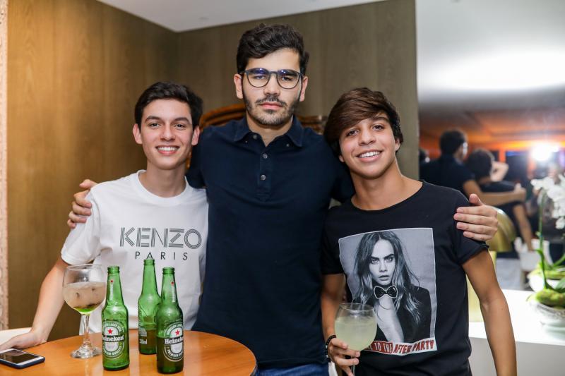 Miguel Freitas, Lucca Naspolini e Isaac Dantas