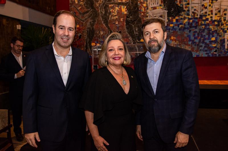 Cesar Ribeiro, Fernanda Carapeba Jensen e Elcio Batista
