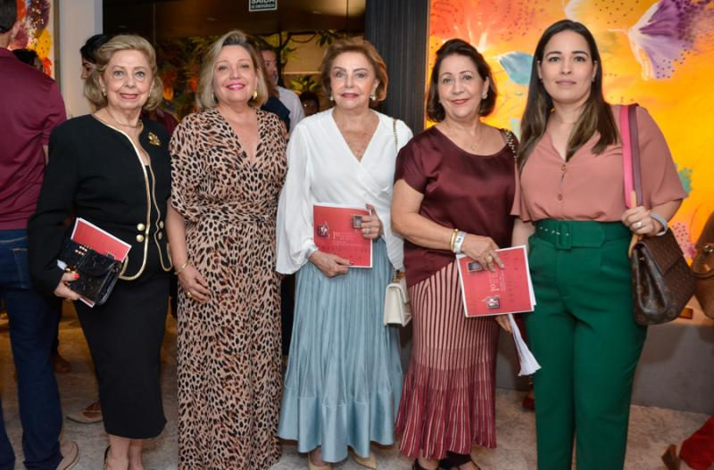 Lucia Pierre, Fernanda Geinsei, Helena Cidrao, Maria Celia e Elaine Bardavil