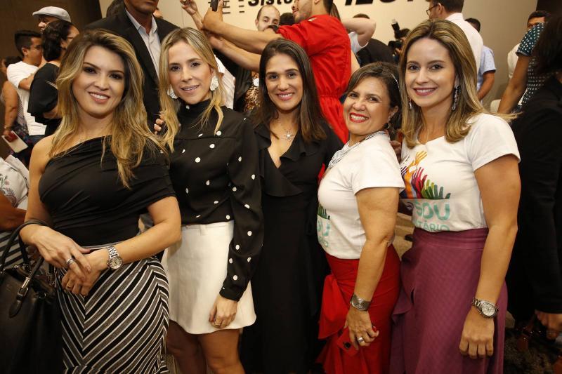 Erika Gomes, Marta Freire, Tatiana Diogo, Conceicao Borges e Lilia Fontenele