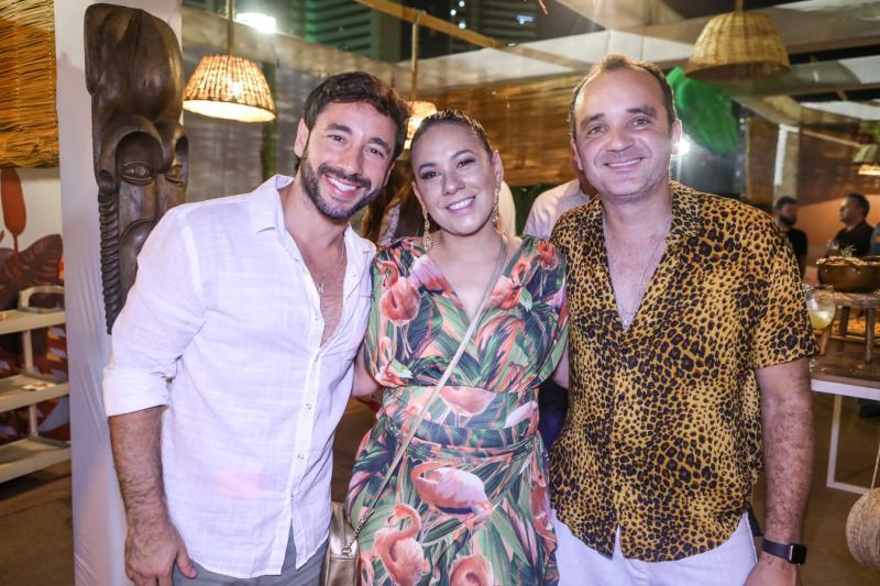 Junior Fernandes, Daniela Fernandes e Marcelo Nobre
