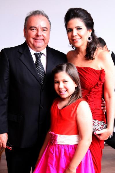 Maria Clara, Maria Lucia e Pedro Carapeba