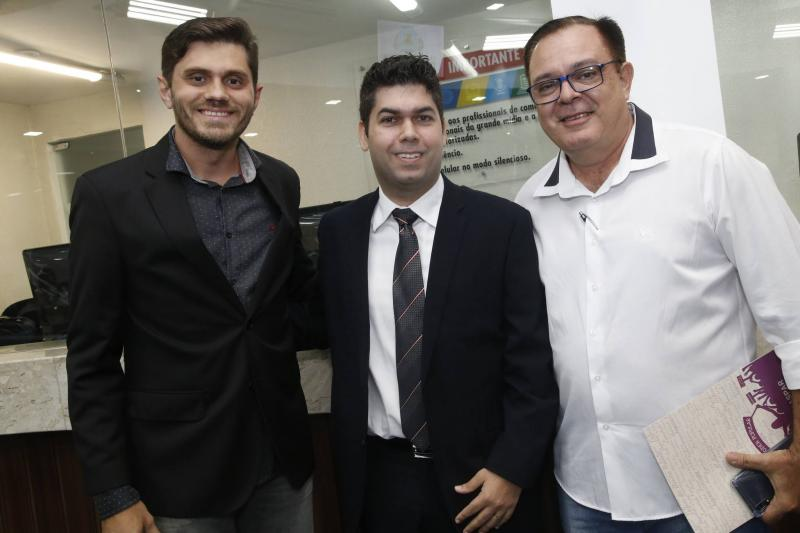 Romulo Magalhaes, Mauro Benevides Neto e Gilmar Gondim