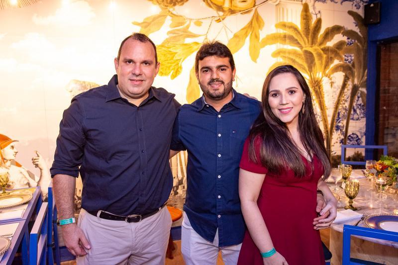 Marcio Leite, Breno Vasconcelos e Carolina Vasconcelos