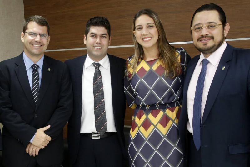 Rogerio Pinheiro, Mauro Benevides Neto, Larissa Gaspar e Ricardo Valente