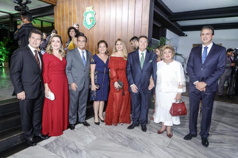 Claudio e Suyane Dias Branco, Beto e Ana Studart, Morgana, Ivens e Consuelo Dias Branco, Camilo Santana