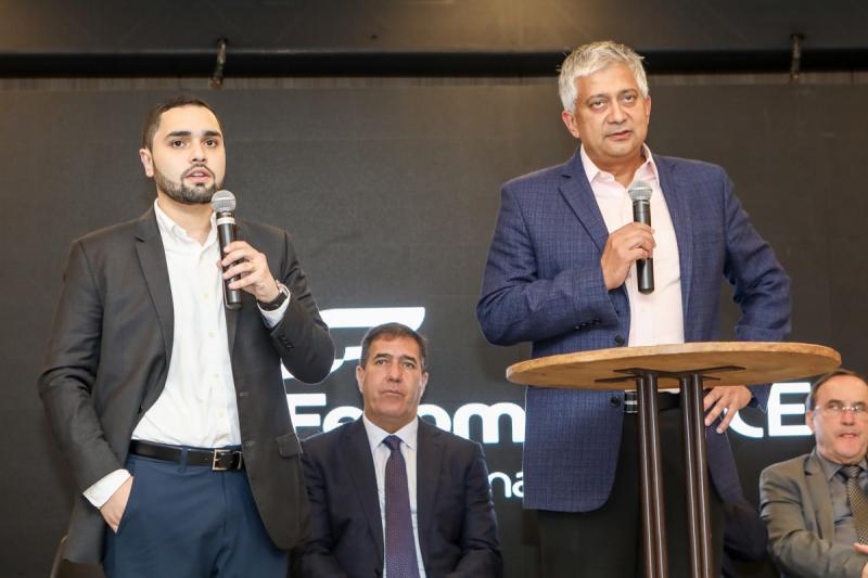 Gerardo Bastos Neto e Hitendra Patel