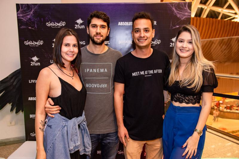 Camila Falcao, Matheus Vieira, Lucas Veras e Vitoria Viana
