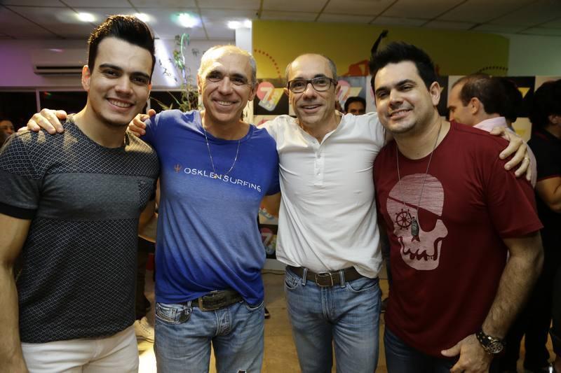 Gabriel, Douglas e Betinho Santos e Luiz Marcelo