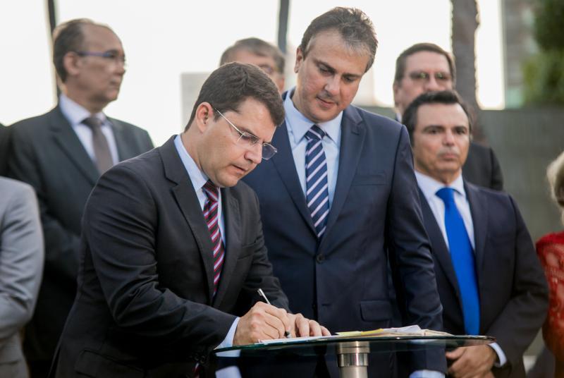 Rogerio Pinheiro e Camilo Santana