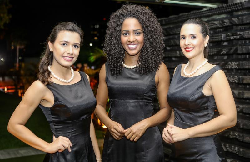 Ana Souza, Jovelina Rocha e Simone Gurgel