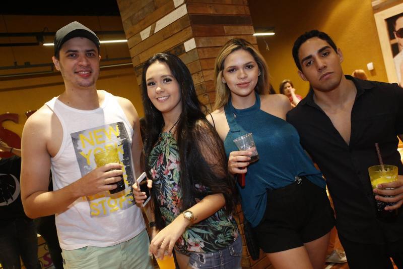 Bruno Costa, Bruna Rodrigues, Monique Brito e Germano Brilhante
