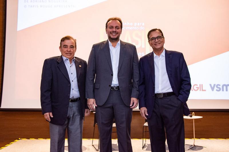 Claudio Targino, Adriano Nogueira e Beto Studart