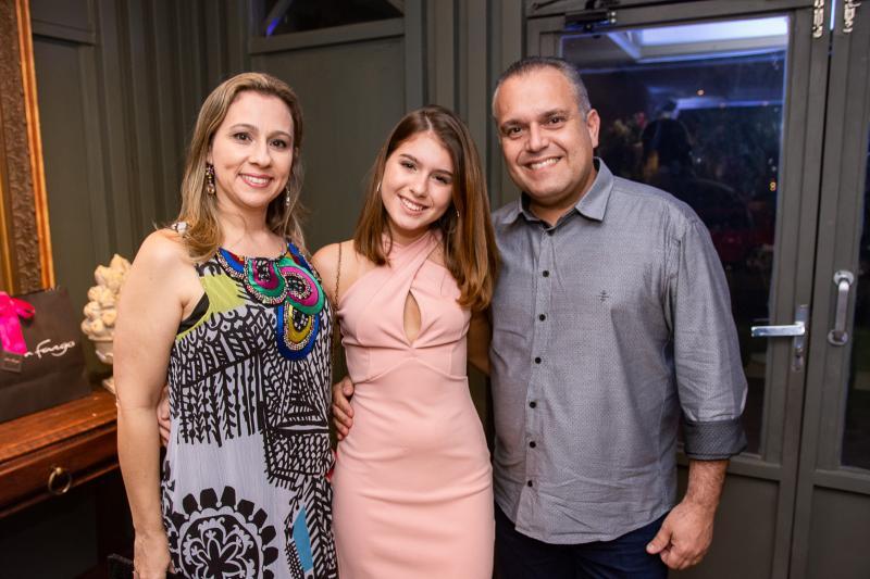 Rochele, Amanda e Roberto Cavalcante