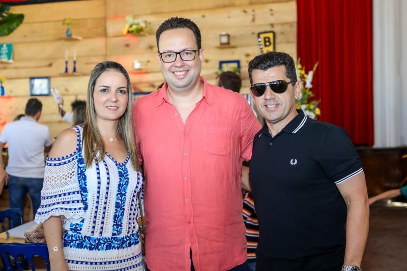 Raquel Vasconcelos, Daniel Joca e Erick Vasconcelos
